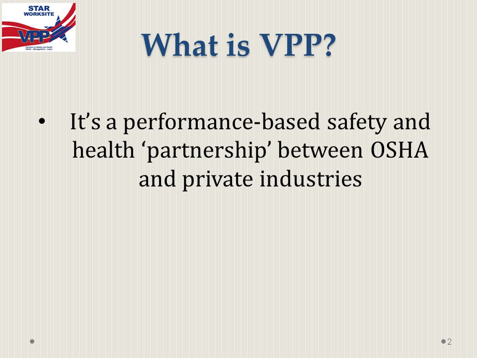 What is VPP.