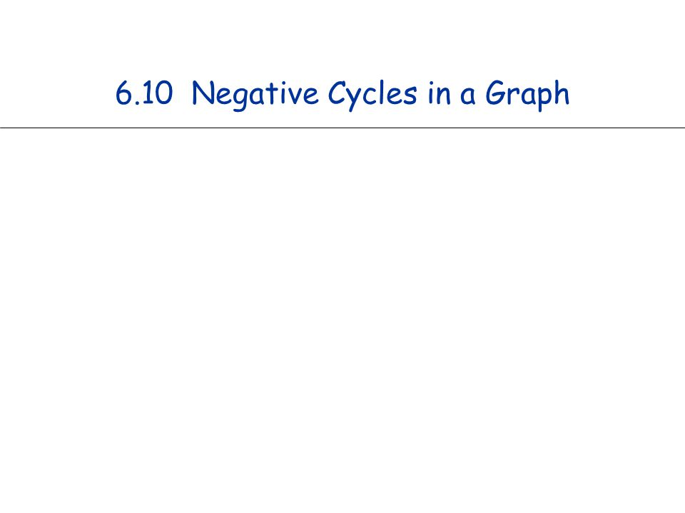 6.10 Negative Cycles in a Graph