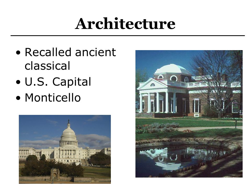 Architecture Recalled ancient classical U.S. Capital Monticello