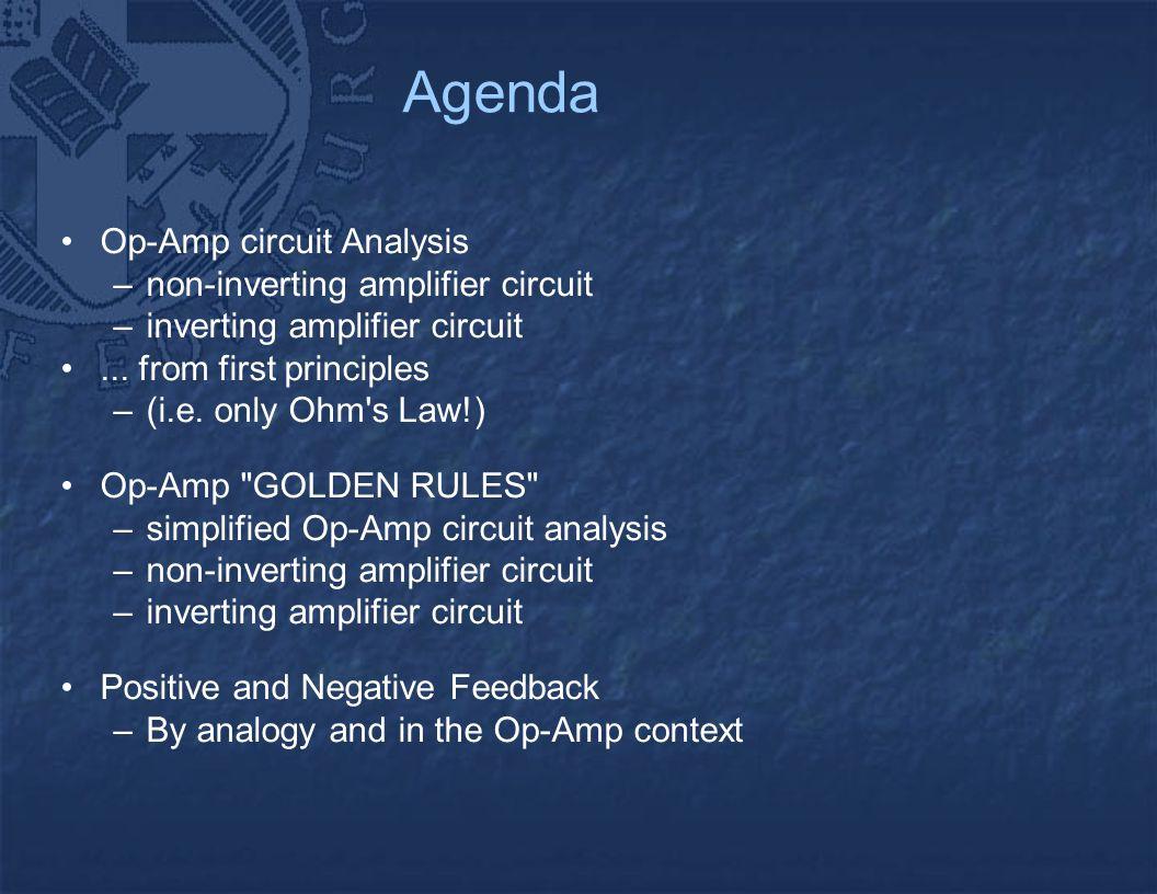 Op Amp Circuits Alan Murray Agenda Circuit Analysis Non Inverting Amplifier