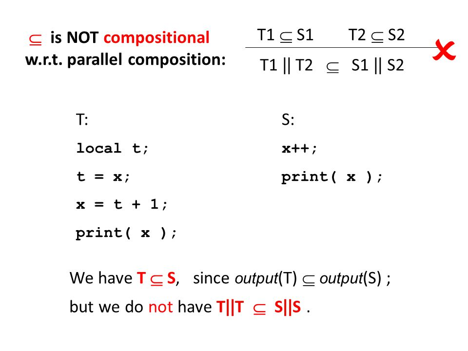  is NOT compositional w.r.t.