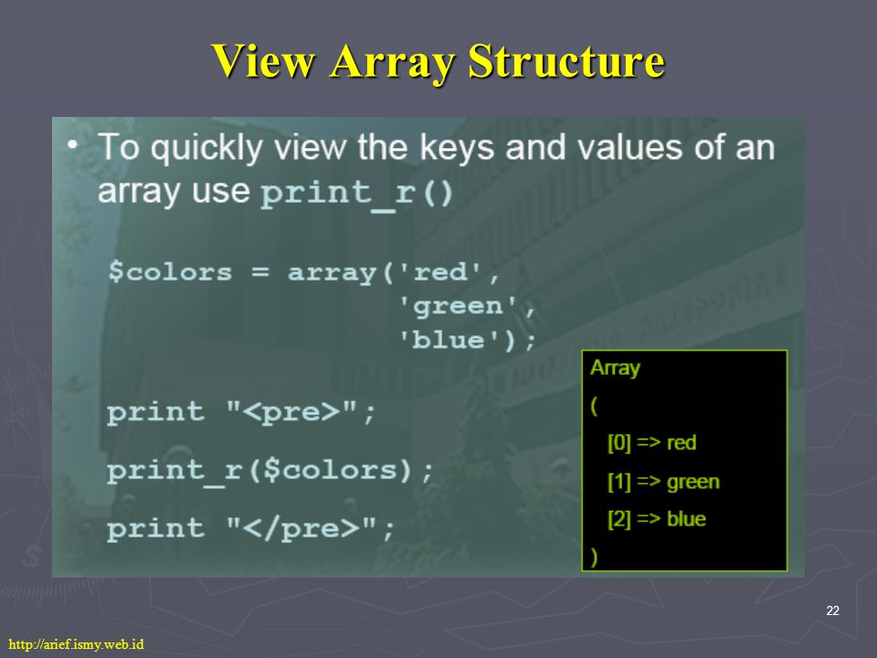 22 View Array Structure http://arief.ismy.web.id