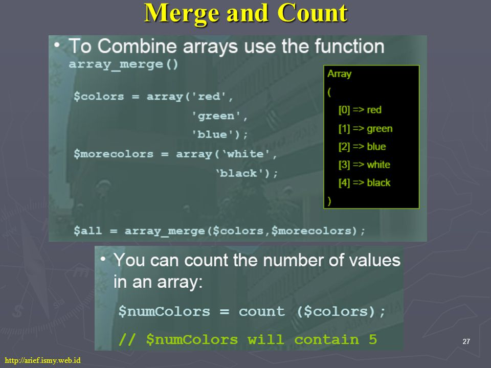 27 Merge and Count http://arief.ismy.web.id