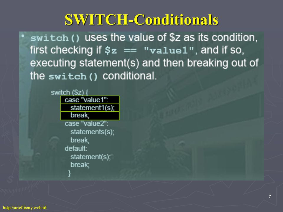 7 SWITCH-Conditionals