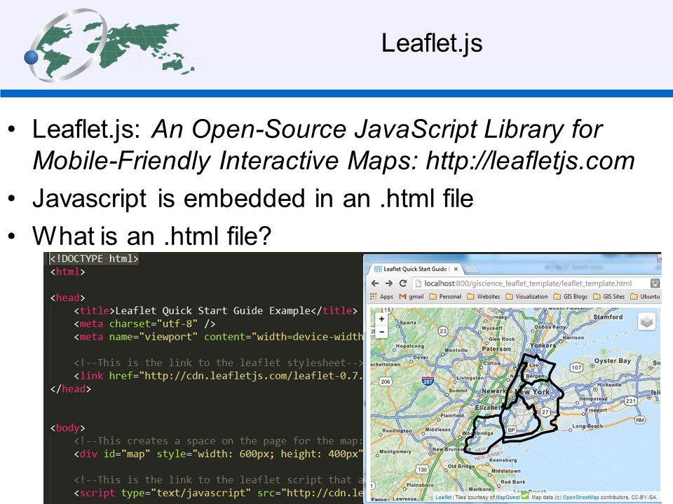 Making maps with Leaflet js Steve Signell, Instructor Robert