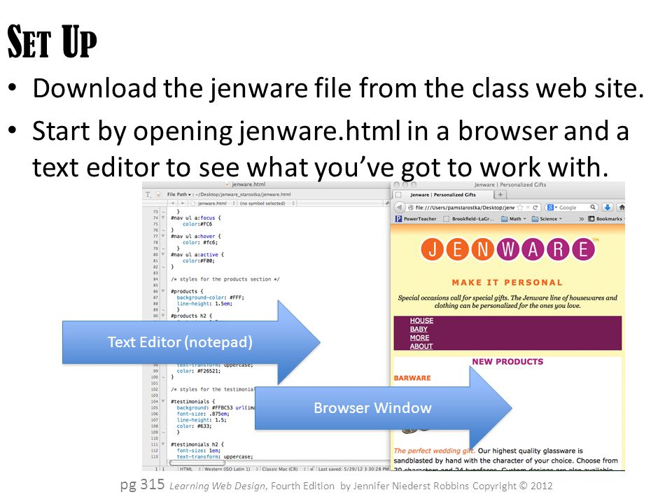 J Enware Chapters 14 15 Learning Web Design Fourth Edition By Jennifer Niederst Robbins Copyright C Ppt Download