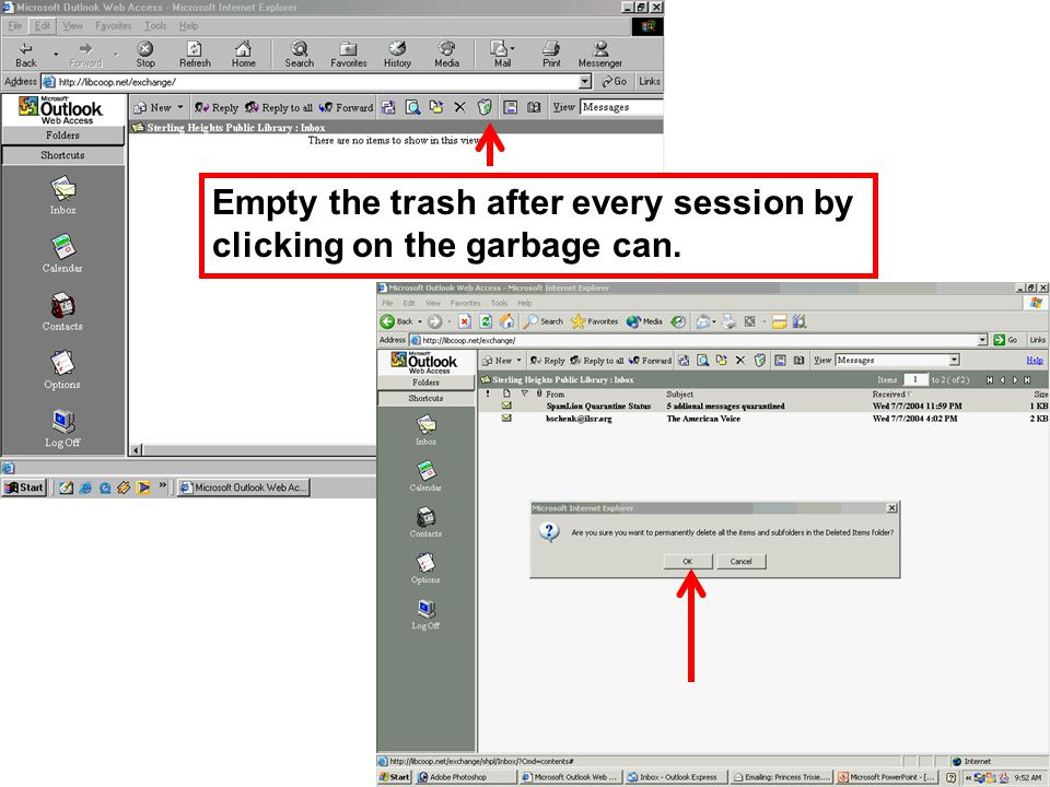 In folders view, click on the sent items folder and empty it by highlighting the item and click on delete.