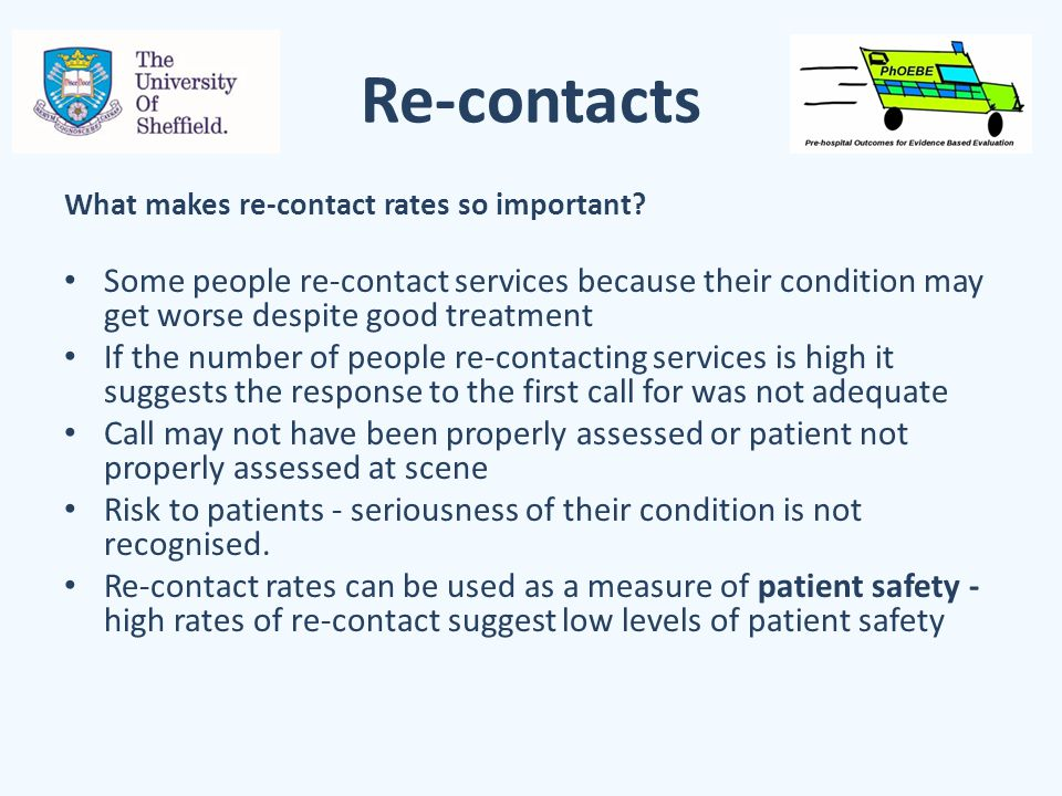 Re-contacts What makes re-contact rates so important.