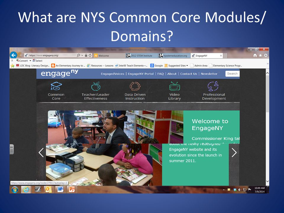 What are NYS Common Core Modules/ Domains