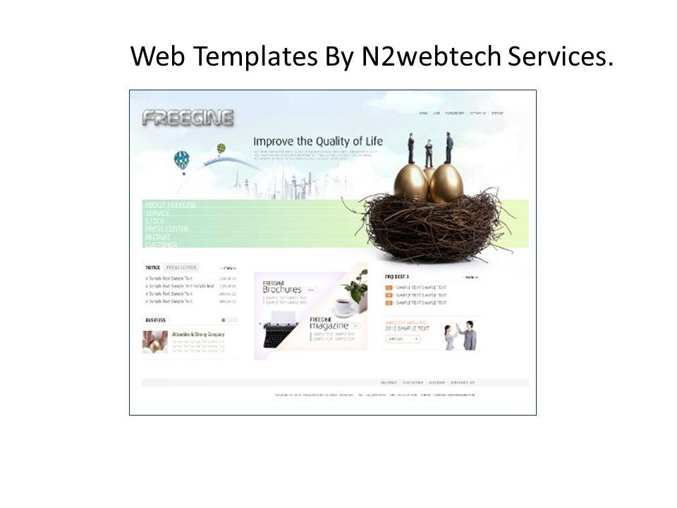 Web Templates By N2webtech Services.