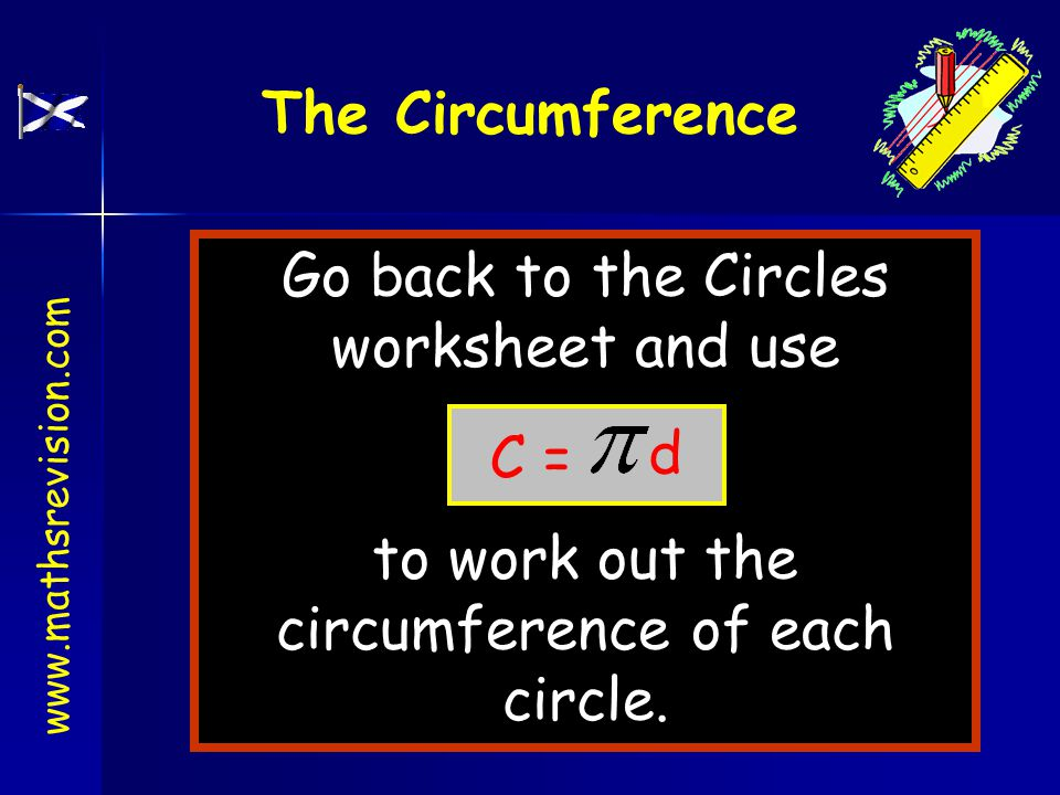Example 2 5cm What is the circumference of this circle.