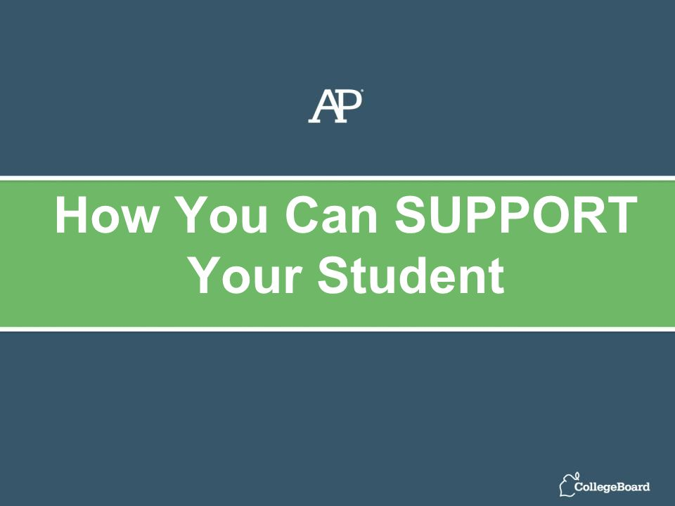 How You Can SUPPORT Your Student
