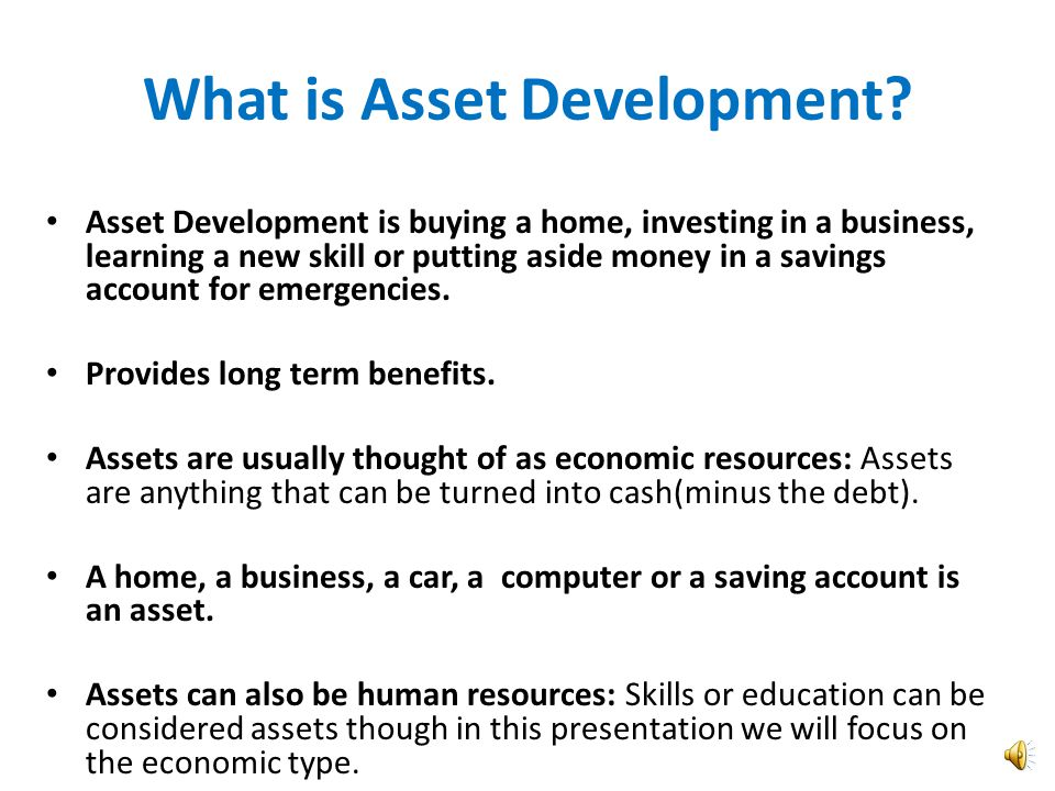 Welcome to Asset Development! 1