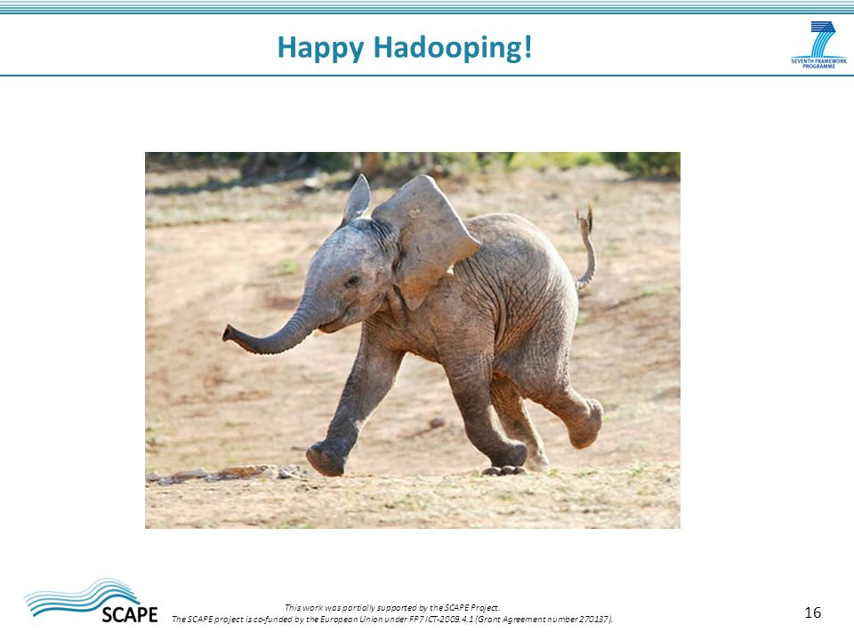 16 Happy Hadooping. This work was partially supported by the SCAPE Project.