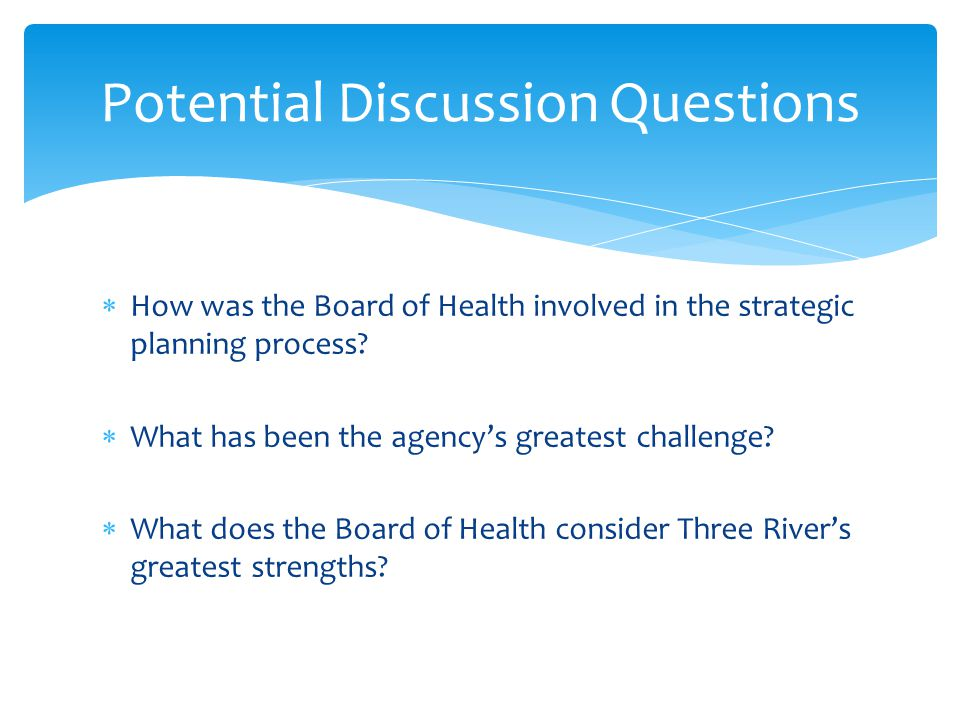  How was the Board of Health involved in the strategic planning process.
