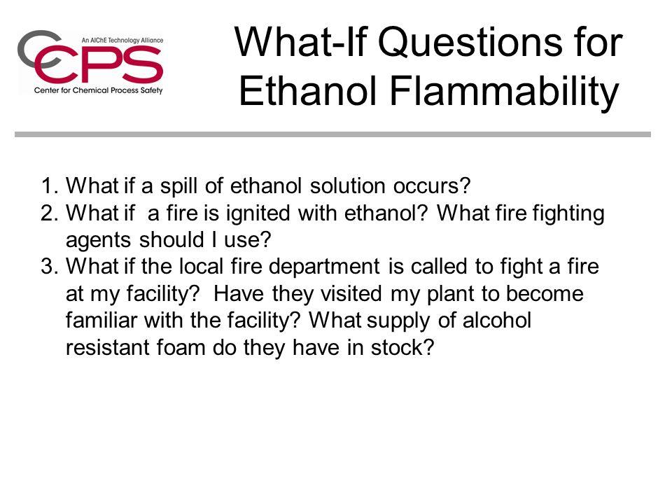 Bioethanol Hazards Flammability of Ethanol Corn Dust Fires