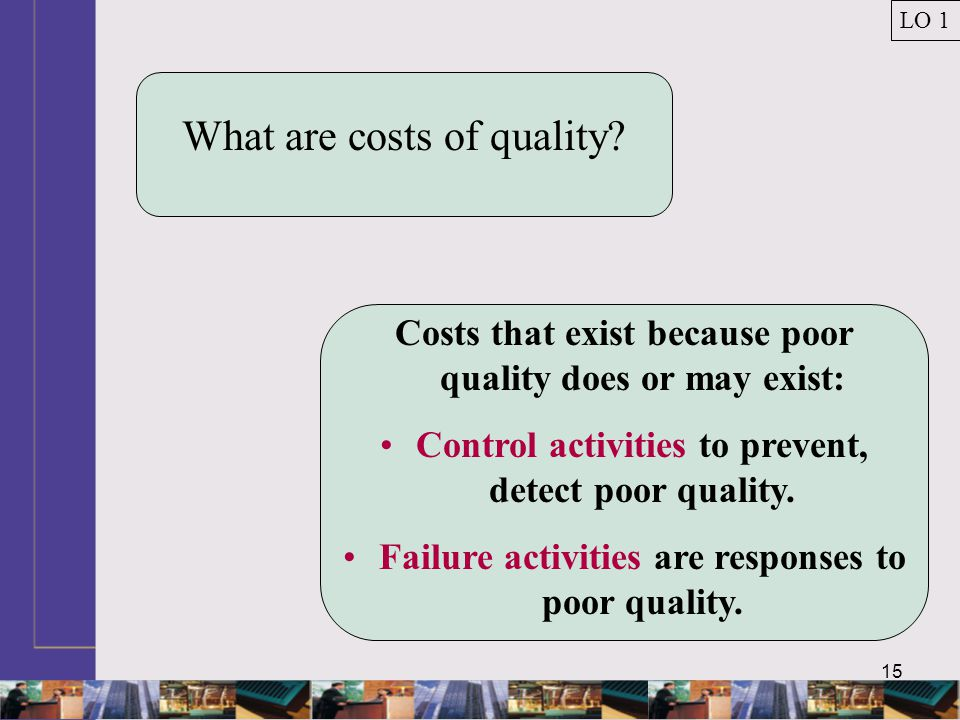 15 What are costs of quality.