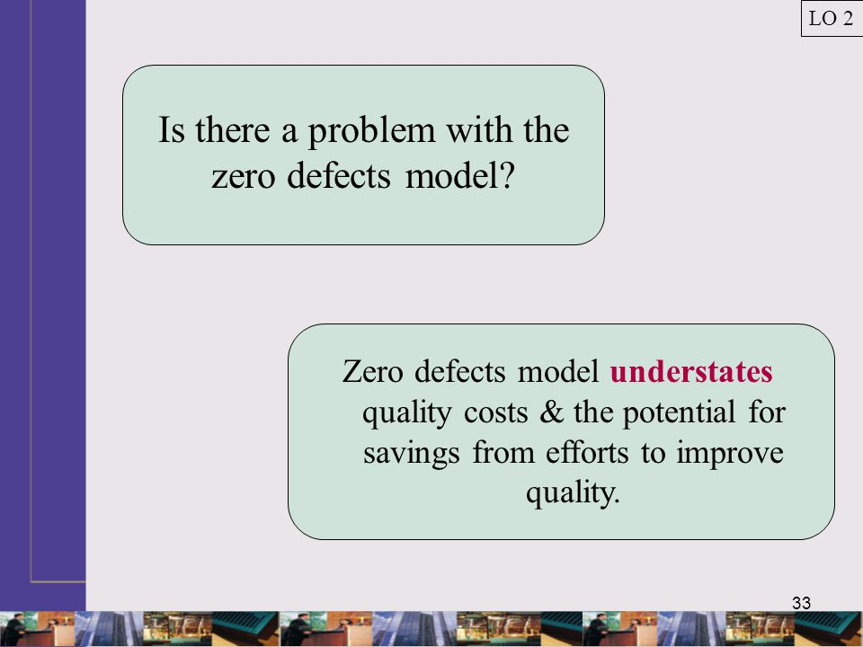 33 Is there a problem with the zero defects model.