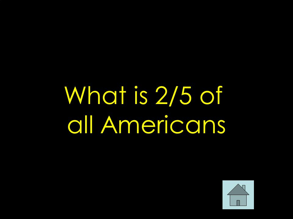 What is 2/5 of all Americans