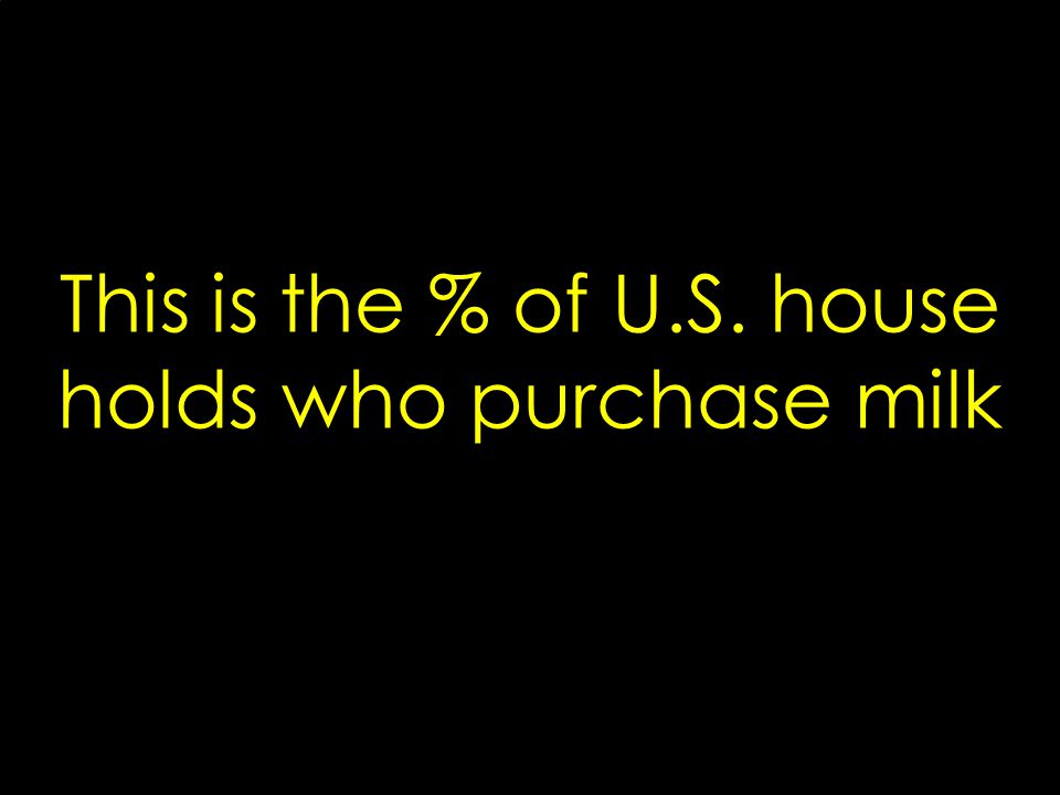This is the % of U.S. house holds who purchase milk