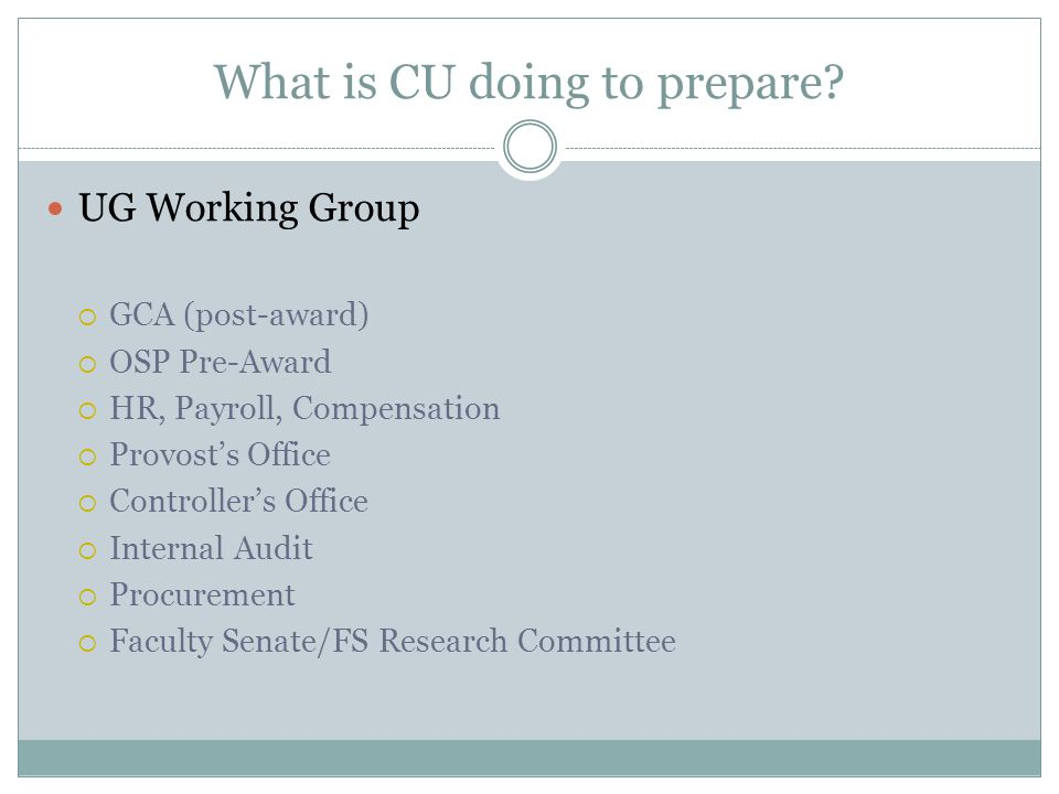What is CU doing to prepare.