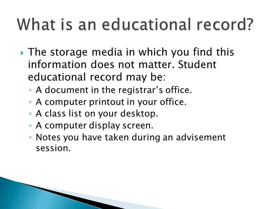  The storage media in which you find this information does not matter.
