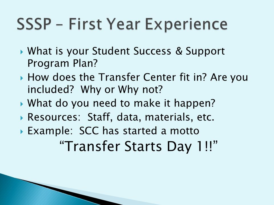  What is your Student Success & Support Program Plan.