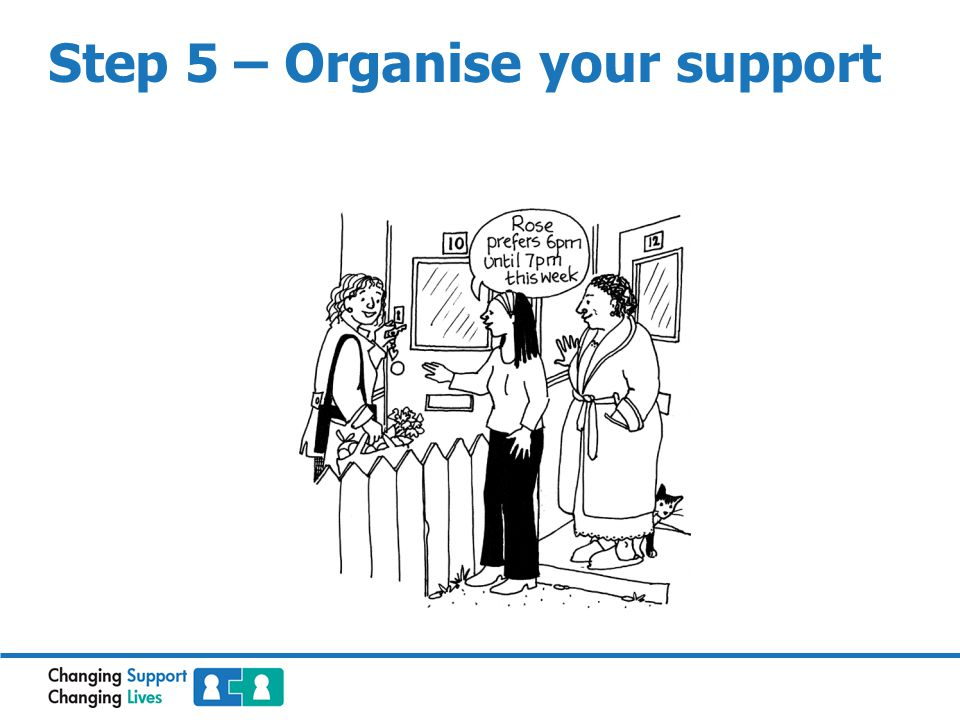 Step 5 – Organise your support
