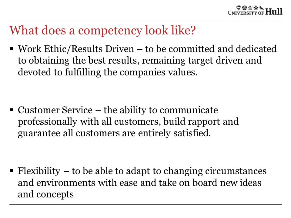 What does a competency look like.
