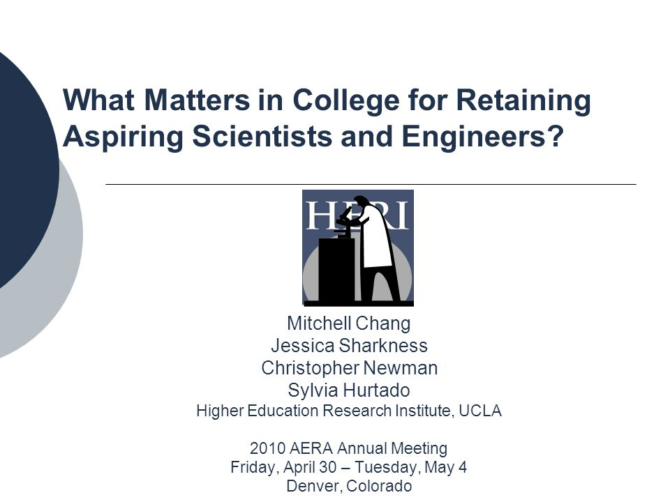 What Matters in College for Retaining Aspiring Scientists and Engineers.