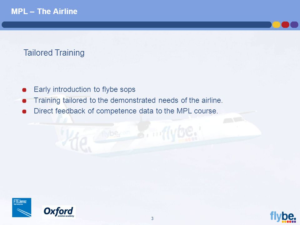 A4 FORMAT Please don't change page set up to A3, print to A3 paper and fit to scale 3 MPL – The Airline Early introduction to flybe sops Training tailored to the demonstrated needs of the airline.