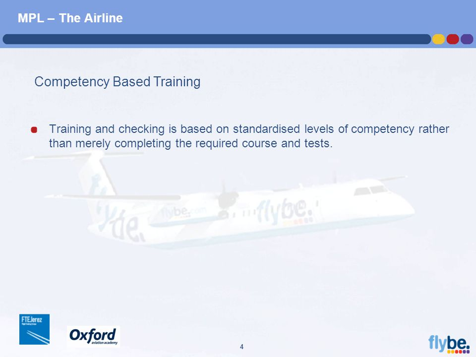 A4 FORMAT Please don't change page set up to A3, print to A3 paper and fit to scale 4 MPL – The Airline Training and checking is based on standardised levels of competency rather than merely completing the required course and tests.