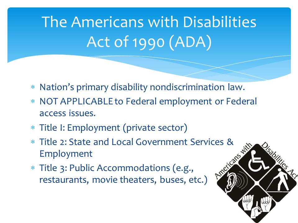  Nation's primary disability nondiscrimination law.