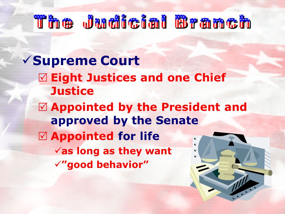 Supreme Court Justices Nine Players (1869) Seven members were fine Till 1869 Go up then down From 10-7 But this act gave us nine.