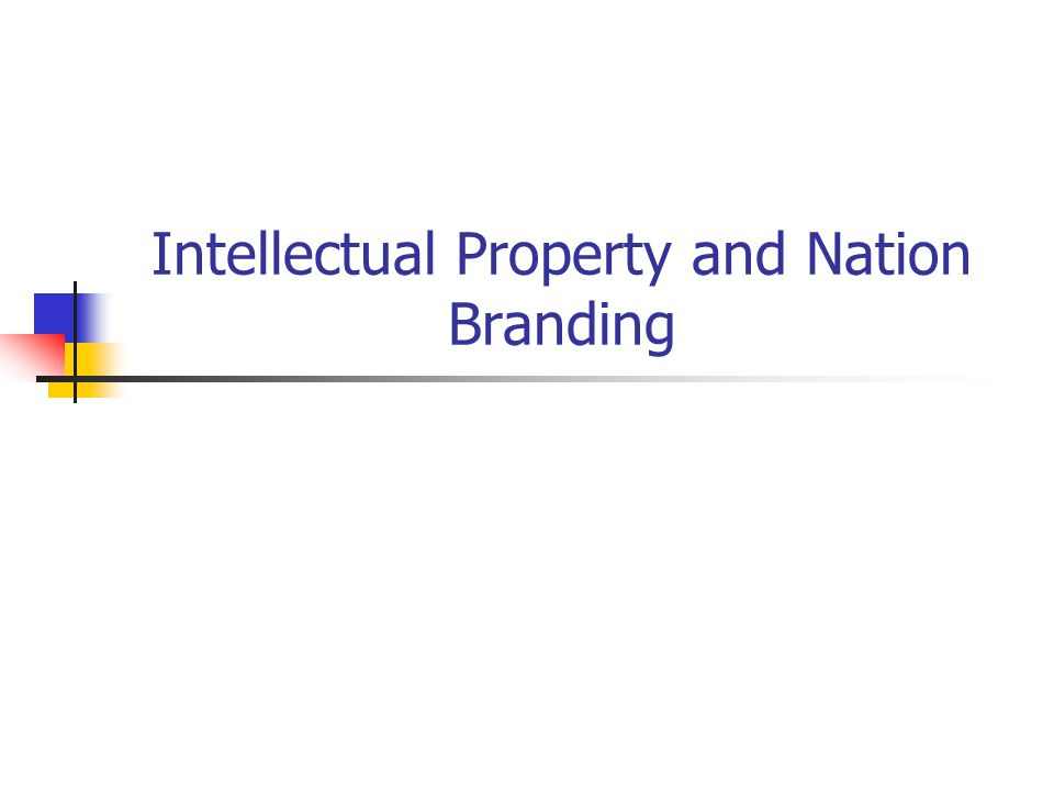 Intellectual Property and Nation Branding