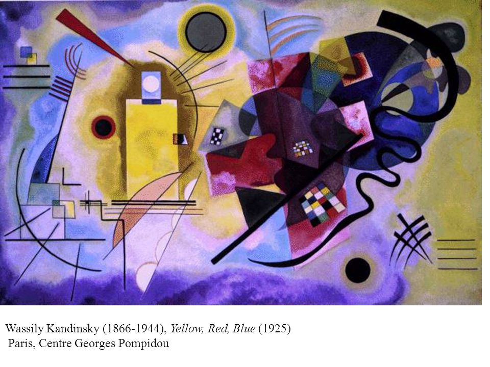 Wassily Kandinsky (1866-1944), Yellow, Red, Blue (1925) Paris, Centre Georges Pompidou