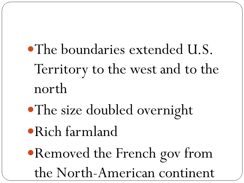 The boundaries extended U.S.