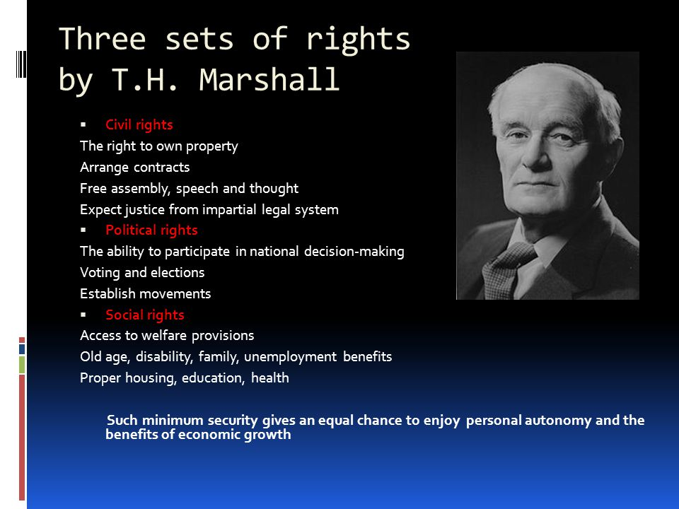 Three sets of rights by T.H.