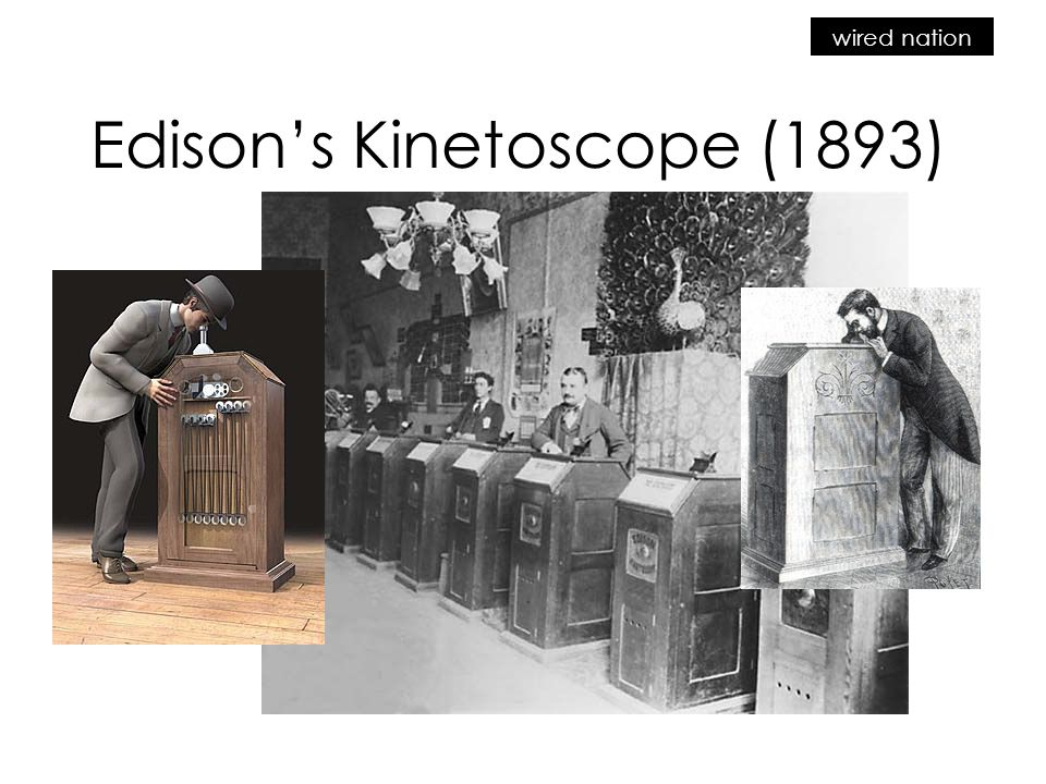 wired nation Edison's Kinetoscope (1893)