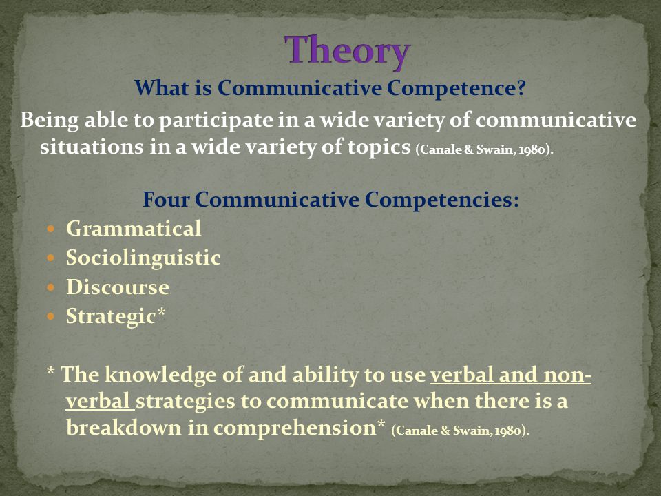 What is Communicative Competence.