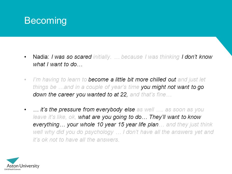Becoming Nadia: I was so scared initially.
