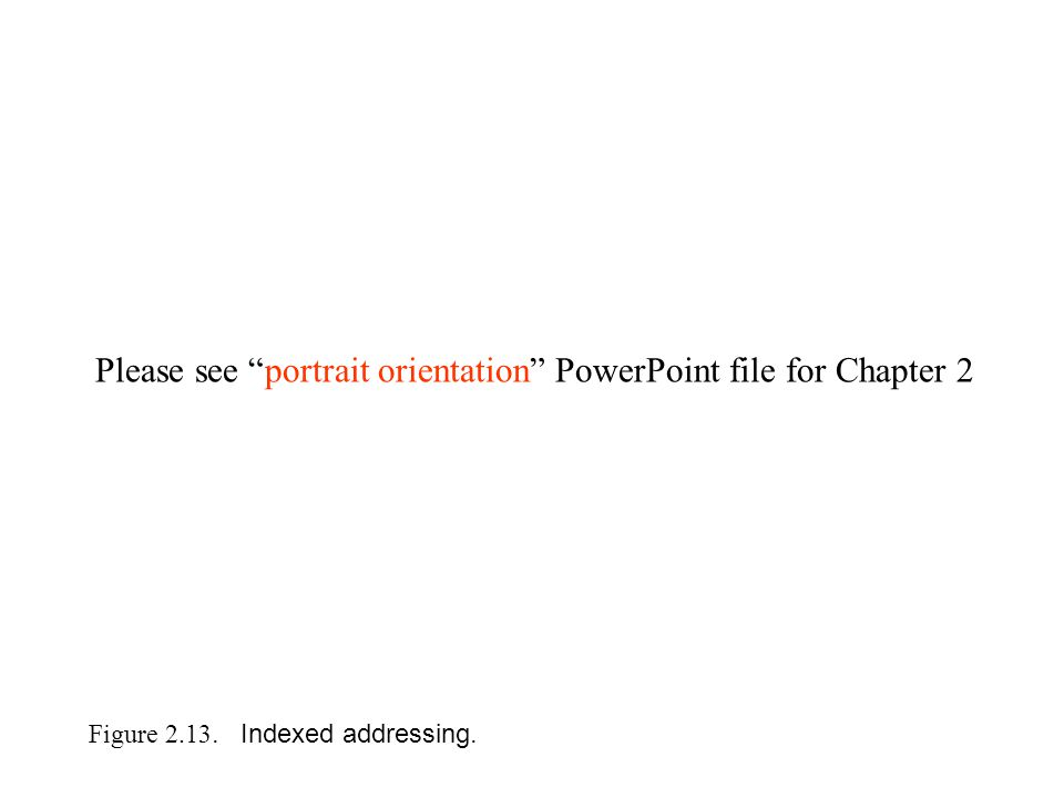 Figure 2.13. Indexed addressing. Please see portrait orientation PowerPoint file for Chapter 2