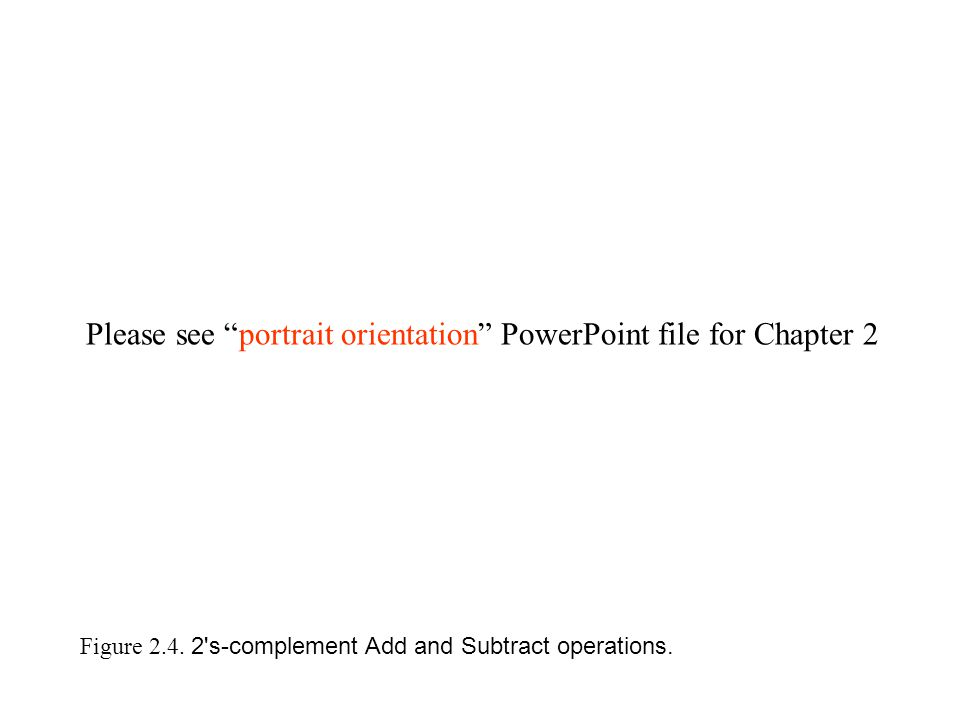 Figure 2.4. 2 s-complement Add and Subtract operations.