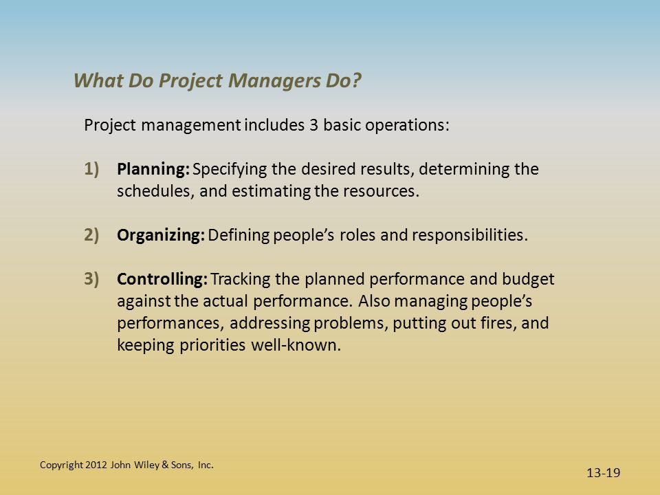 What Do Project Managers Do.
