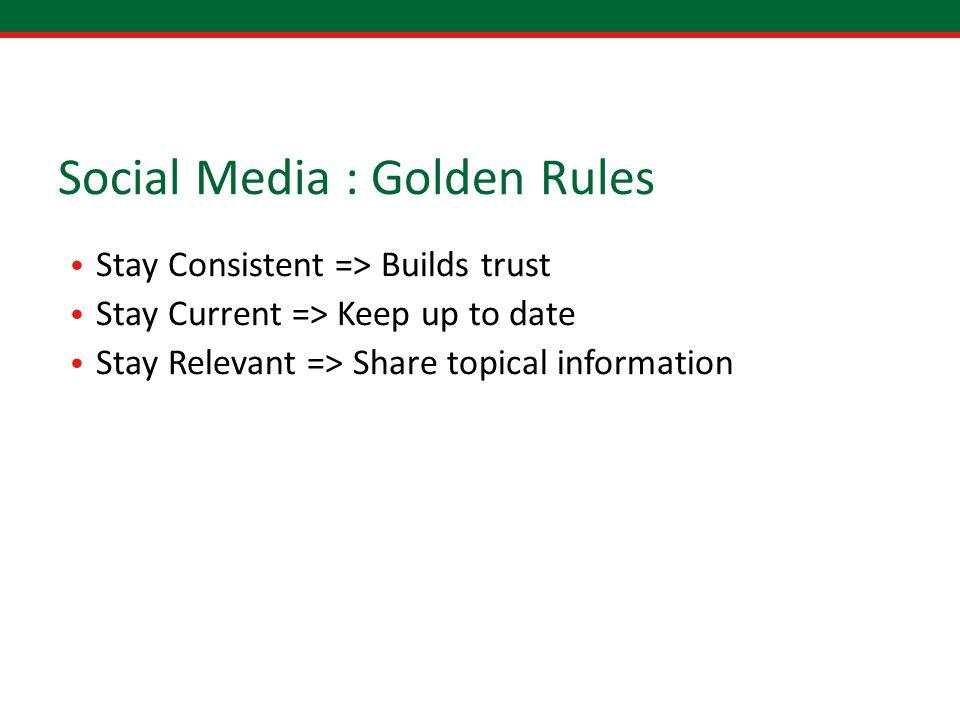 social media dating rules