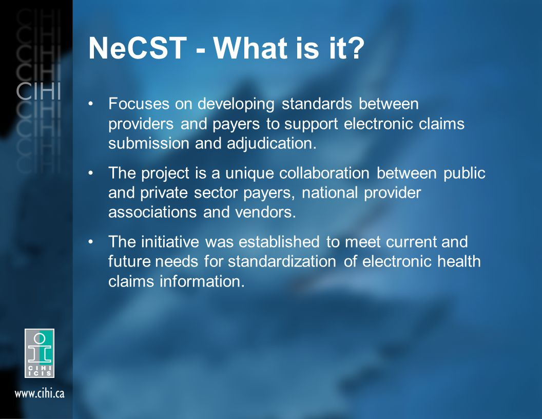 NeCST - What is it.