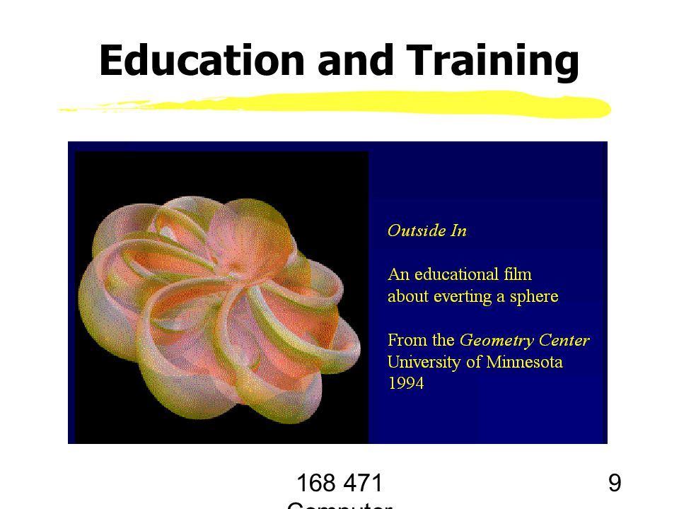 168 471 Computer Graphics, KKU. Lecture 1 9 Education and Training