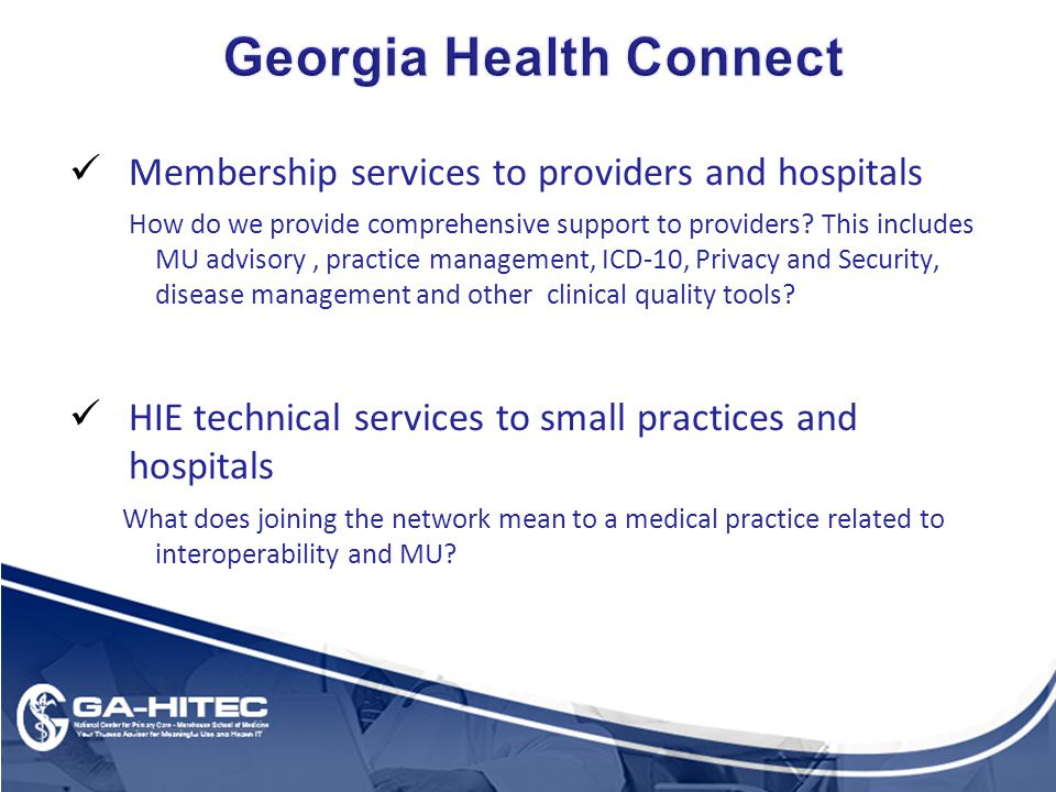 Membership services to providers and hospitals How do we provide comprehensive support to providers.