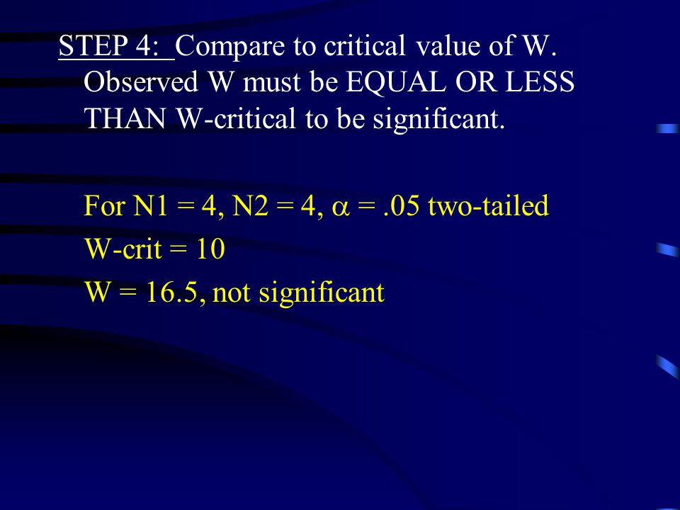 STEP 3: W is the smaller  R. W = 16.5