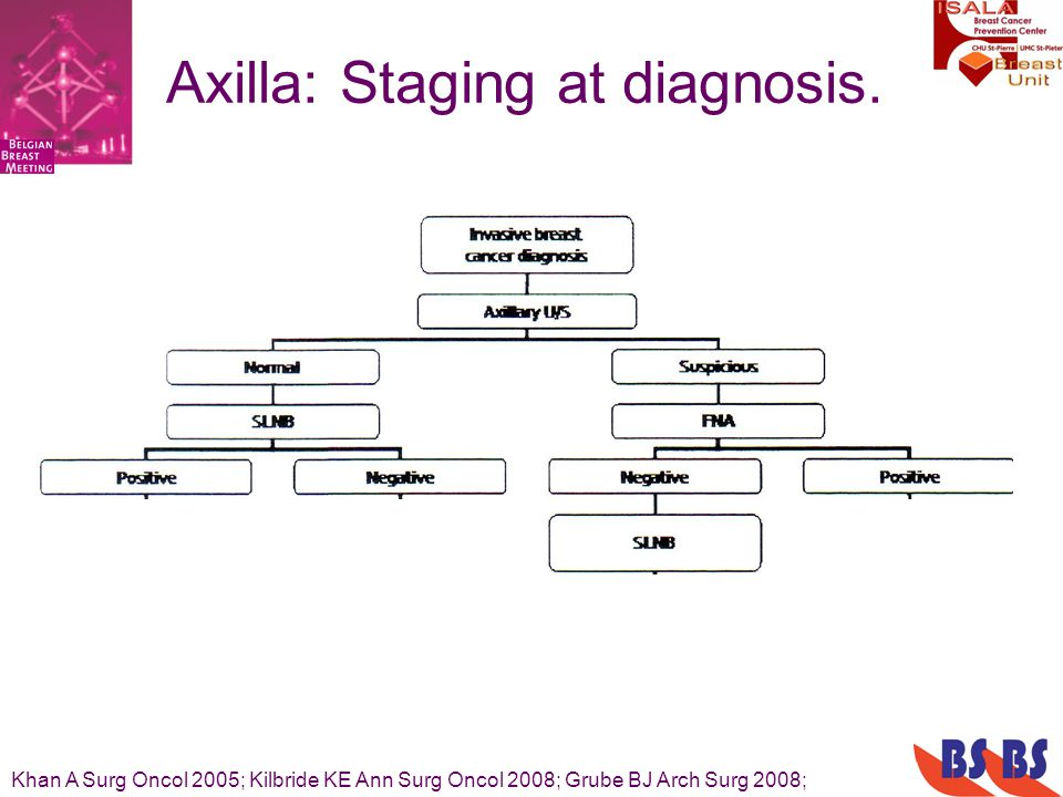 Axilla: Staging at diagnosis.